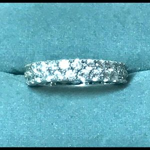 Signed Sterling Eternity Ring Sz 8